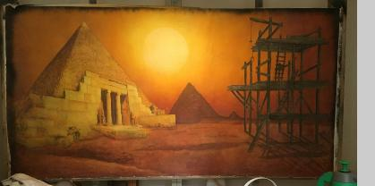 The Stage music video backdrop egypt